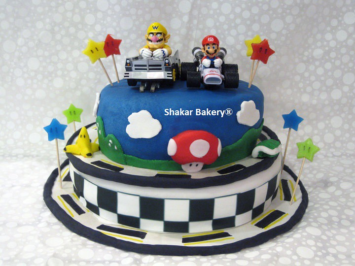 Fine Mario Kart Birthday Cake Shakar Bakery Flickr Personalised Birthday Cards Sponlily Jamesorg