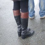 middle heel knee high boots