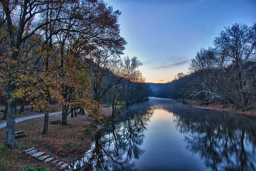 morning autumn reflection fall water fog creek sunrise landscape fallcolors scenic delaware wilmington hdr brandywine brandywinecreekstatepark brandywinevalley brandywinecreek