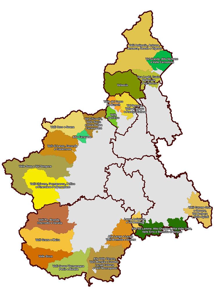 La Cartina Del Piemonte.La Cartina Delle 22 Comunita Montane Del Piemonte In Piemo Flickr