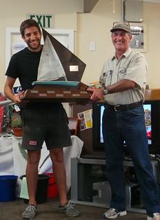 Dario Motta, RSA winner and Will Perry | by PLSC (Panmure Lagoon Sailing Club)