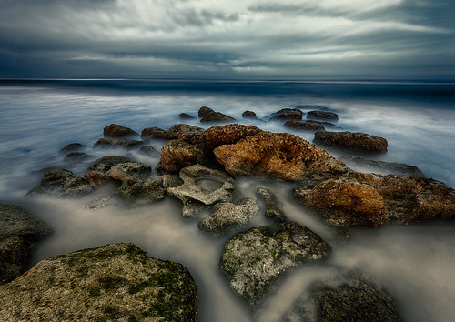 centralflorida cloud florida landscape longexposure lowlight marineland nighttime ocean sky usa water rock palmcoast edrosackcom