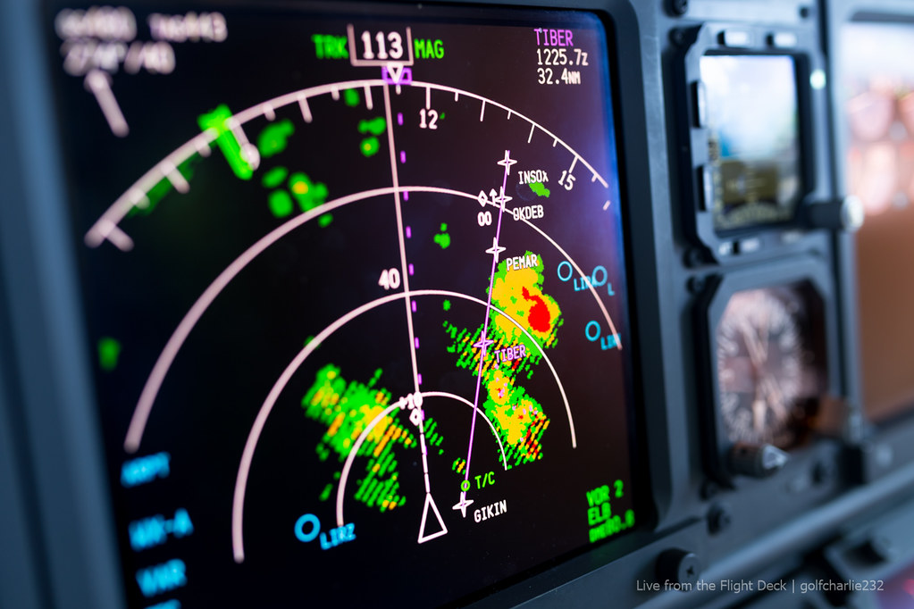 Thunderstorms - Boeing 737 Weather Radar | Canon 6D + Sigma