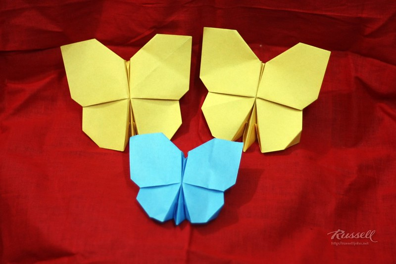 Origami Butterfly Family
