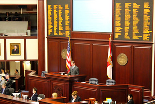 Speaker Dean Cannon during the third reading of HB 5401 (Juvenile Detention) in the chamber of the House of Representatives on the fourth floor of the Capitol during Guardian ad Litem Day on February 9, 2012 in Tallahassee, Florida. | by flguardian2