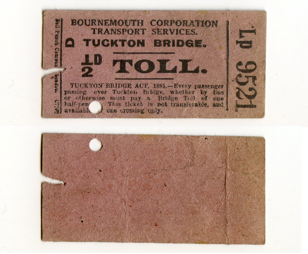 Tuckton Bridge Ticket Toll Ticket | Bournemouth Corporation … | Flickr