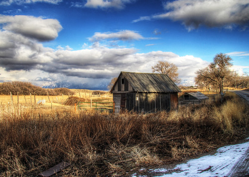 clouds landscape utah farm shed hdr herriman photomatix saltlakecounty bartwilliams