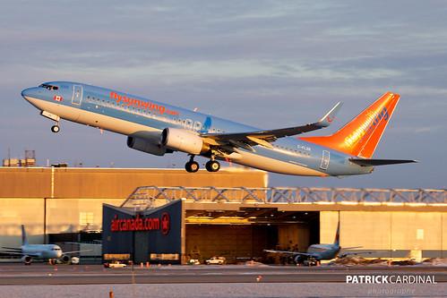 sunrise montreal boeing 737800 sunwing cyul cflzr