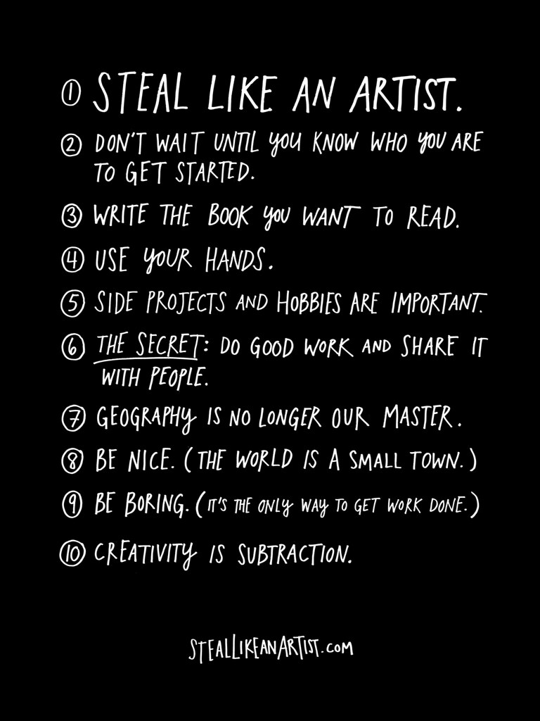 Steal Like An Artist - Promotional Poster