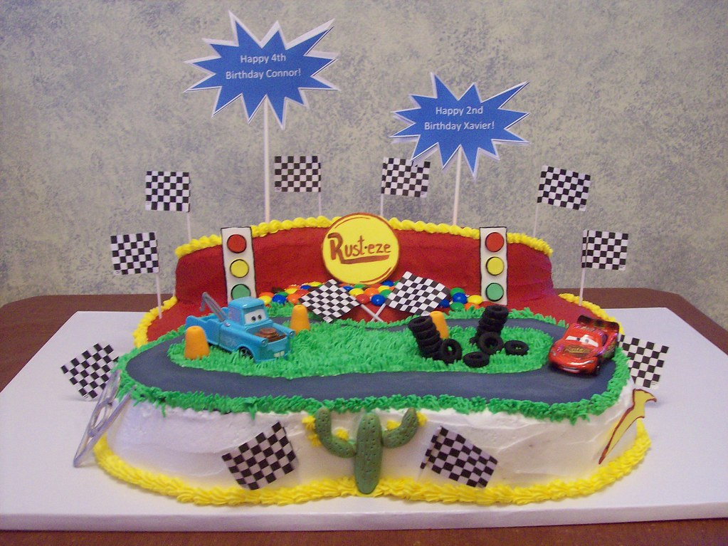 Miraculous Lightning Mcqueen And Mater Cars Birthday Cake Birthday Si Flickr Personalised Birthday Cards Veneteletsinfo