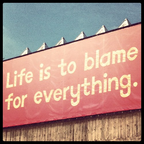 """""""Life Is To Blame For Everything"""", Belvedere Road, London SE1 
