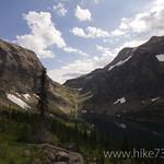 Lake Ellen Wilson with Gunsight Pass