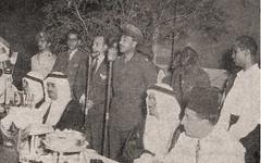 حفل السفارة المصرية - القائم بالأعمال أنور السادات يلقي كلمة