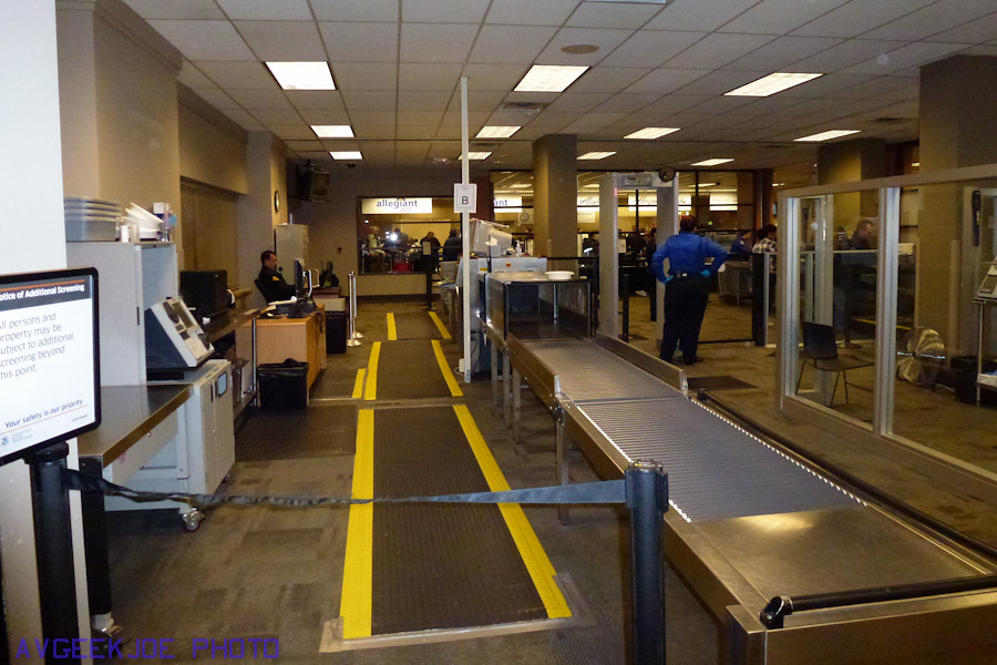 Relatively painless Bellingham International Airport Security...