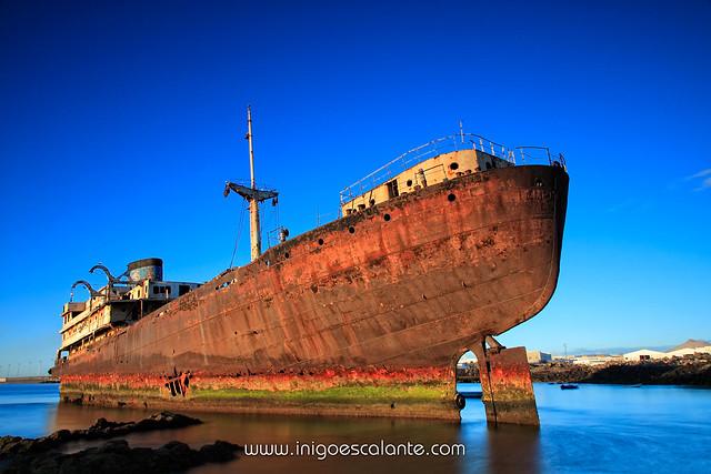 Telamón en puerto los Mármoles, Arrecife, Lanzarote