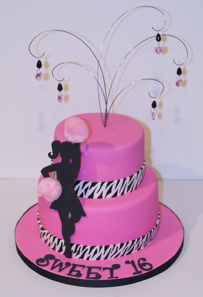Astounding Cheer Leading Sweet 16 Birthday Cake Rondi Flickr Funny Birthday Cards Online Alyptdamsfinfo