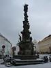 Teplice – Zámecké náměstí, morový sloup, vpravo zámek, foto: Petr Nejedlý