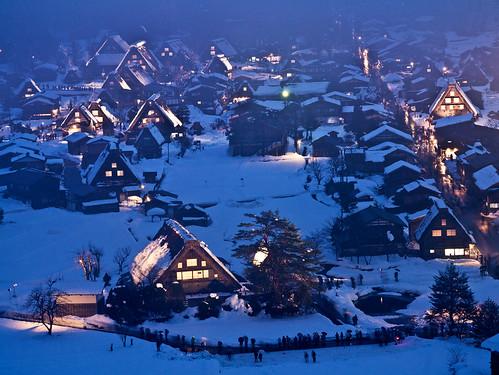 白川郷ライトアップ Shirakawagou Light Up | by かがみ~