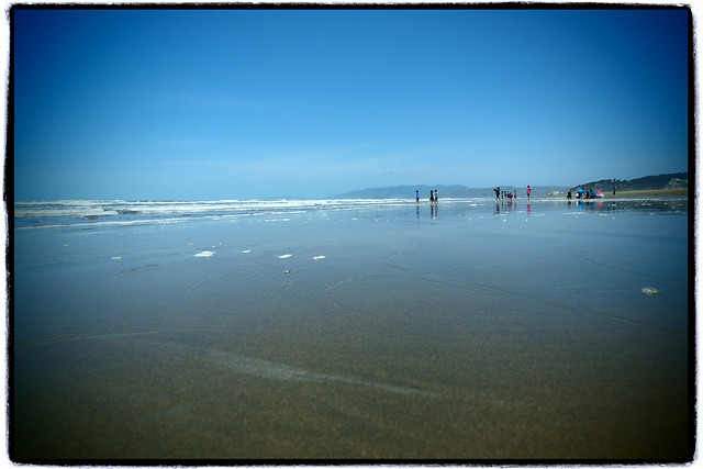 Wide Pacific beach