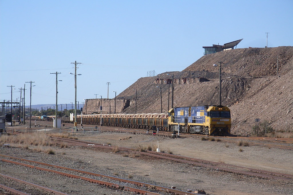 NR113 and NR1 have just arrived into Broken Hill on a steel train by bukk05