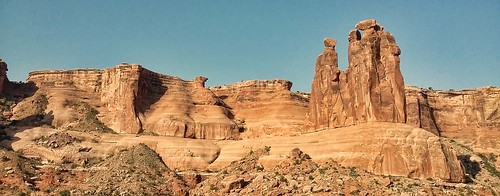 nature rock landscape utah warm moab formations archesnationalmonument