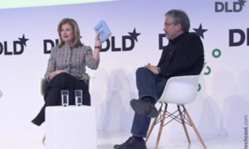 """DLD17 session """"Rest!!!"""" with Arianna Huffington"""