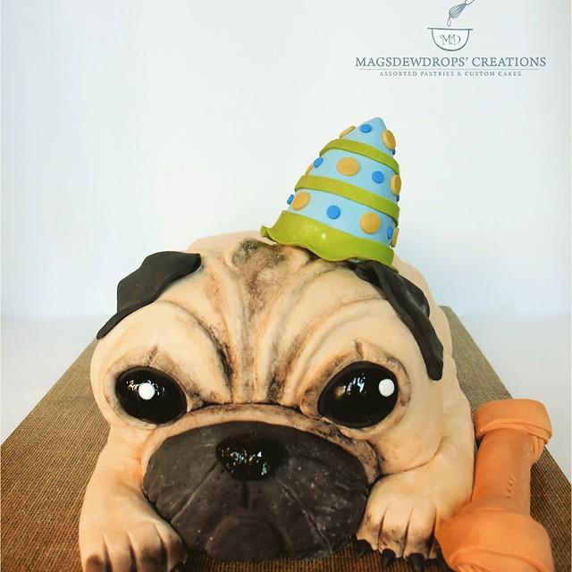 3D Pug Cake