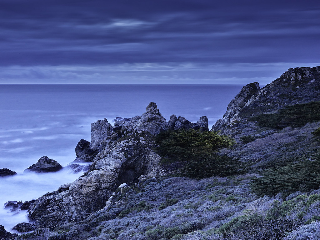 Blue Hour View from Rocky Point looking North toward Point