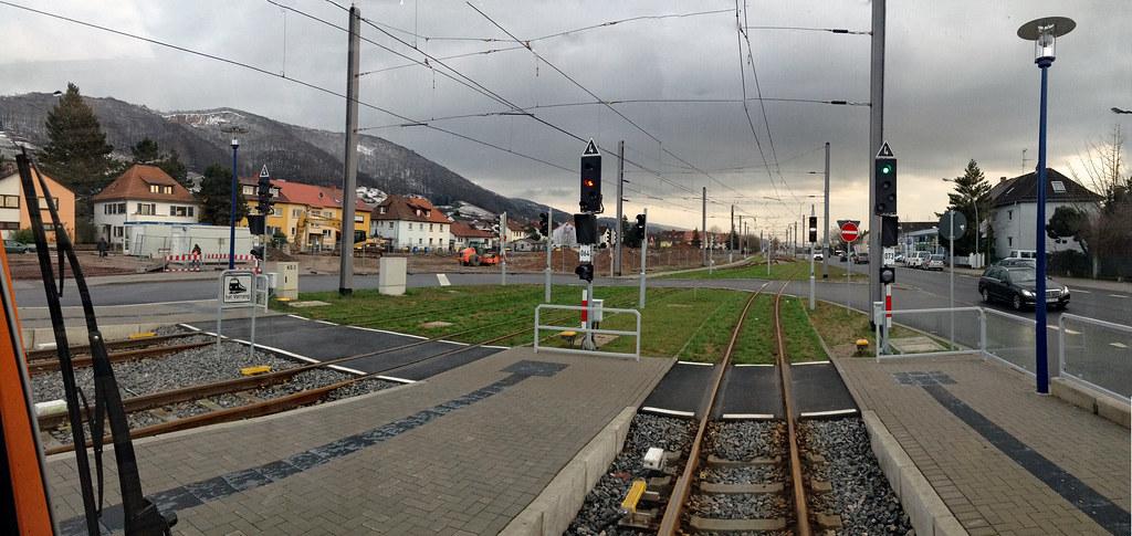 View Of Train Driver   Schriesheim Bahnhof in Richtung