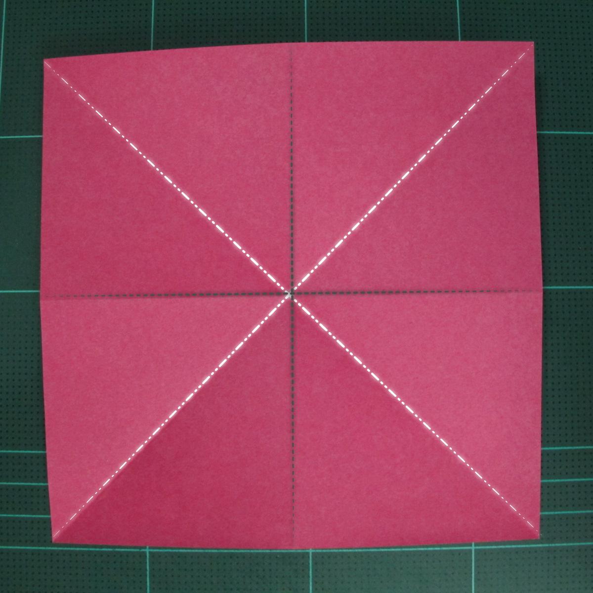 การพับฐานสี่เหลี่ยม (Origami Preliminary Base) 001