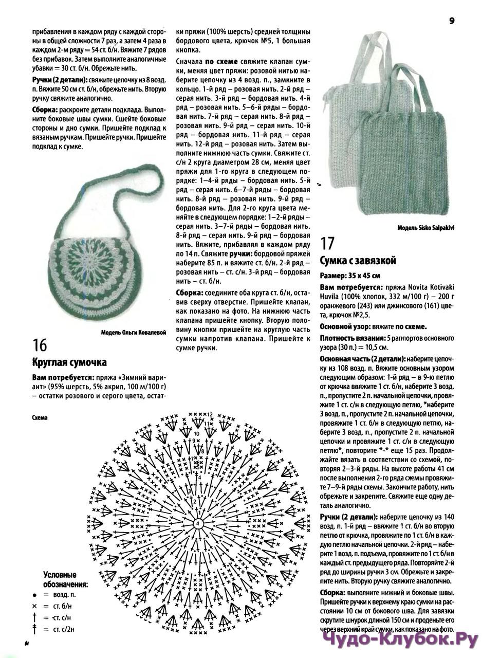 Петельки ком сумки крючком схемы и описание фото