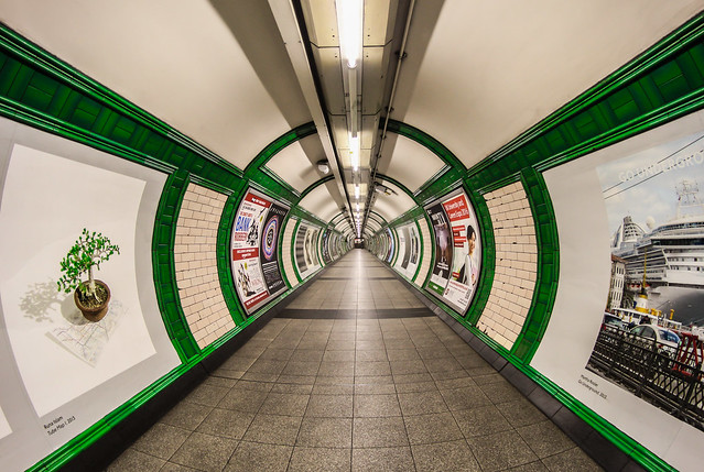Green Route Redux - Embankment Underground London by Simon Hadleigh-Sparks