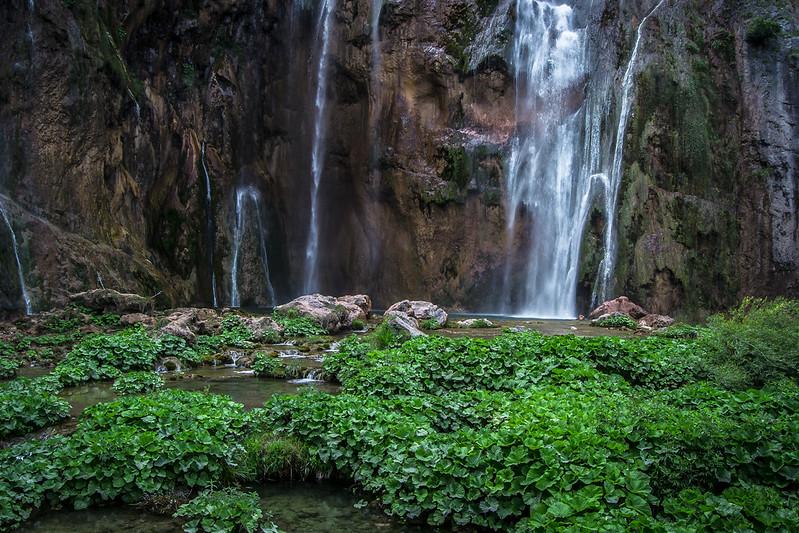 Plitvice Lakes waterfall