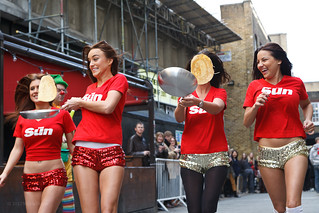 Kelly The Sun Page 3 >> Page 3 Sun Girls Practice At Spitalfields Pancake Race K
