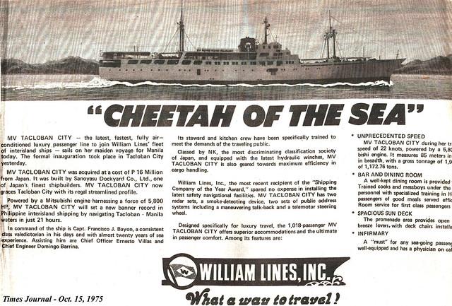 1975 1015 Cheetah of the Sea_MV Tacloban City