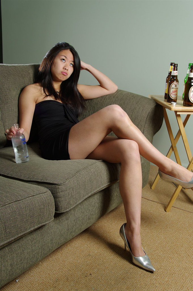 Drunk Asian Party Girl   So this part of the photo shoot