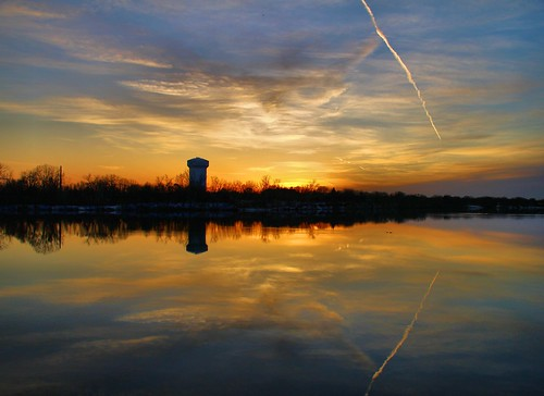 sunset water minnesota river mississippi dam watertower rapids coon mn brooklynpark