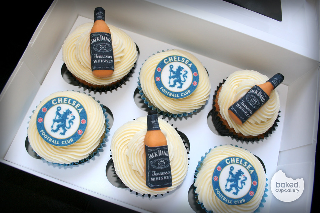 Jack Daniels and Chelsea Cupcake Box