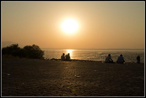 sunset india reflection asia asien sonnenuntergang dusk dämmerung mumbai spiegelung indien reflektion bombai