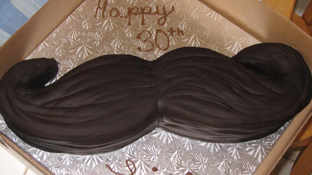 Enjoyable Mustache Birthday Cake Marta Ebra Flickr Funny Birthday Cards Online Necthendildamsfinfo