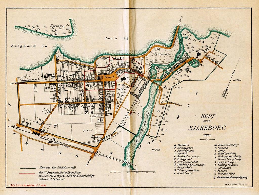 Kort Over Silkeborg Handelsplads Handelspladsen Blev Grund Flickr