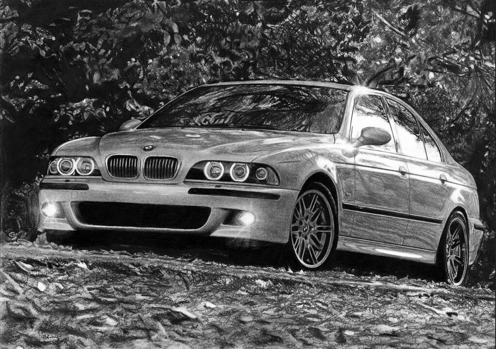 Bmw M5 E39 Drawing One Of My Best Car Drawings Format A3