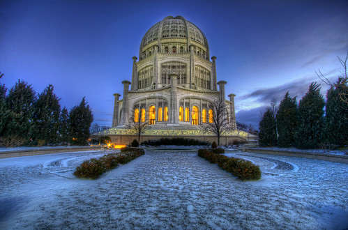 morning blue winter snow chicago cold church sunrise religious temple illinois high nikon long exposure dynamic wind sigma hour bahai evanston 1020mm range hdr d90