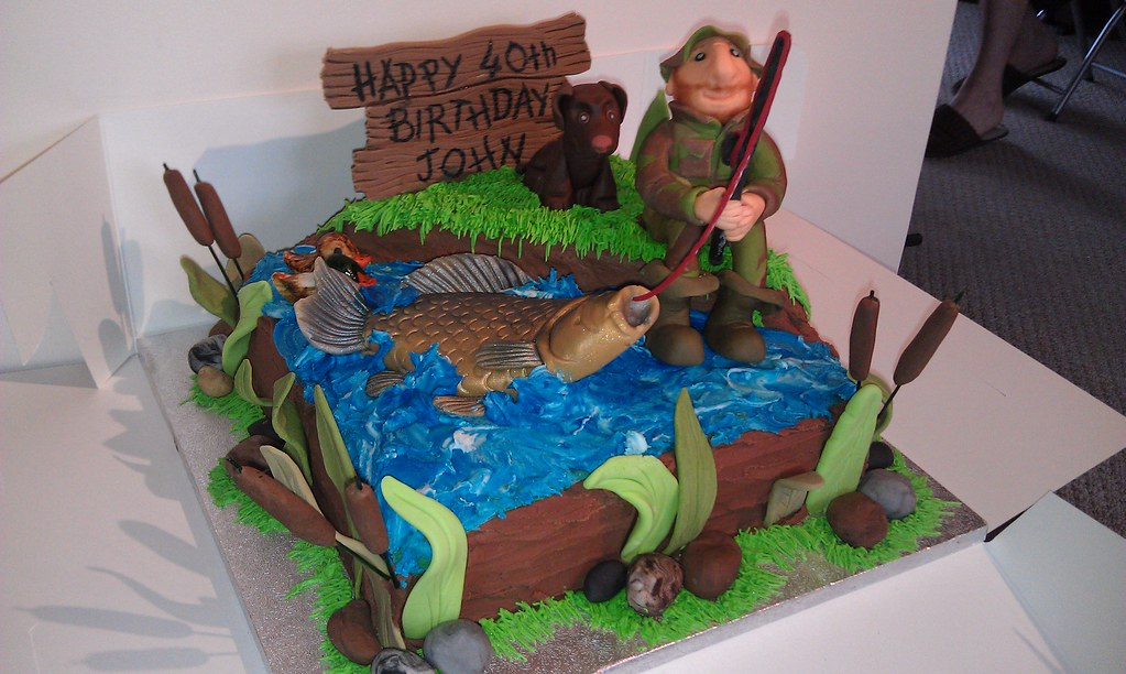 Magnificent Fishing Cake Fishing Fisherman Crucian Carp Cake By Char Flickr Funny Birthday Cards Online Elaedamsfinfo
