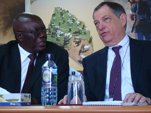 Walter Masiga and Bernard Vallet (OIE) | by International Livestock Research Institute