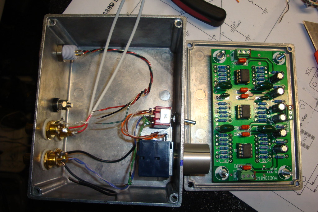 DIY phono preamp audio unit inside | This phono preamplifier… | Flickr