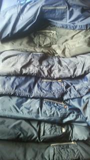 Parka sleeve / pen pockets