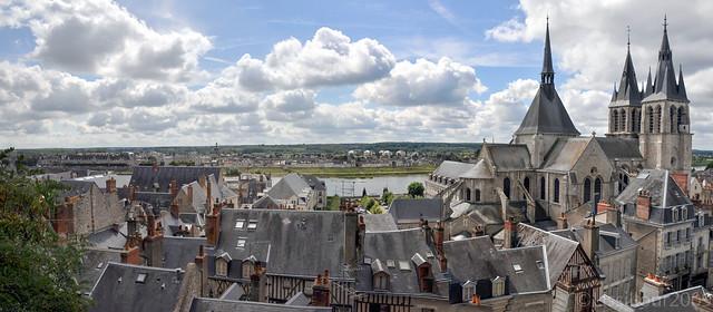 Panorama ville de blois city france 2009