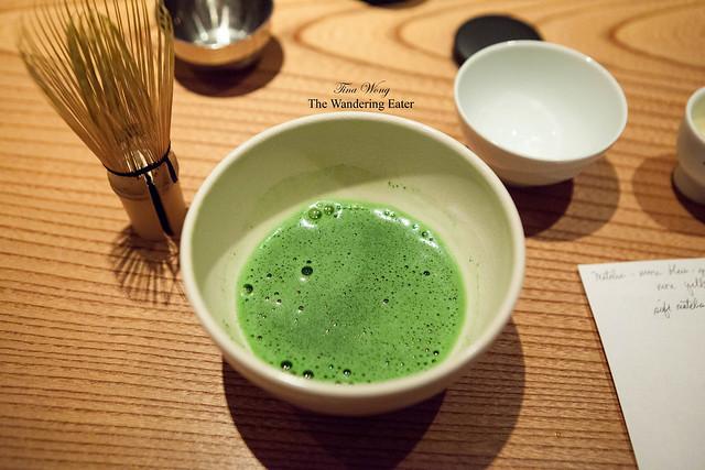 My cup of matcha tea (Kan-no-shiro matcha)