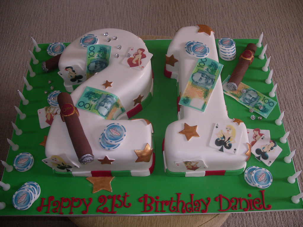 Groovy Boys 21St Birthday Cake High Rollers Angelas Passion Cakes Flickr Funny Birthday Cards Online Aboleapandamsfinfo